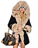 Roiii Womens Hooded Camouflage Warm Winter Coats Faux Fur Jacket Parka...