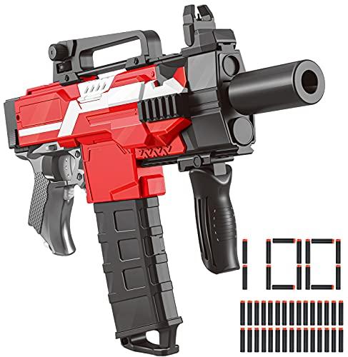 Elektrisch Gun für Nerf Gun Bullets, Kinder Spielzeug Outdoor ab 6 7 8 9 10 11 12 Jahre Jungen Mädchen, Geburtstagsgeschenk für 8-14 Jährige alte Jungen Mädchen (100 Stück Foam Dart Refill Bullets)
