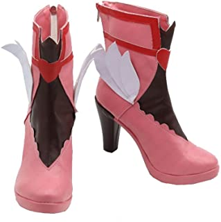 Magical Girl DVA Cosplay Boots White Wing Pink Shoes