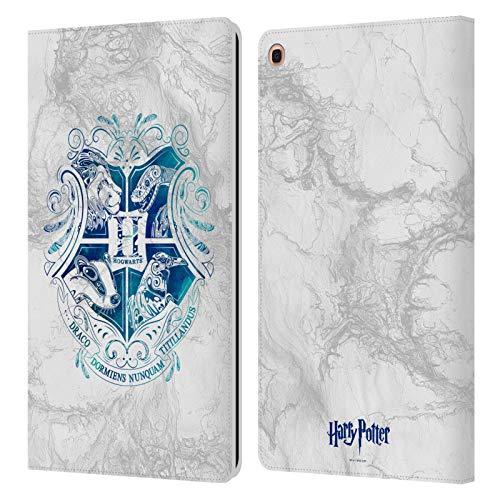 Head Case Designs Offizielle Harry Potter Hogwarts Aguamenti Deathly Hallows IX Leder Brieftaschen Handyhulle Hulle Huelle kompatibel mit Samsung Galaxy Tab A 101 2019