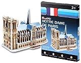 Cubic Fun S3012h 39 piezas Mini Notre Dame de Paris de papel 3D Jigsaw Puzzle