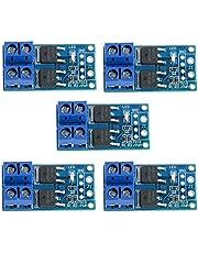 ICQUANZX 5 STUKS DC 5 V-36 V 15 A (max. 30 A) 400 W Dubbele krachtige MOSFET-triggerschakelaar aandrijfmodule 0-20 kHz PWM-aanpassing Elektronische schakelkast
