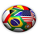 ワールドカップサッカーボール-ラップトップ、Macbook、旅行用の超薄型ノンスリップラウンドマウスパッドマウスパッド
