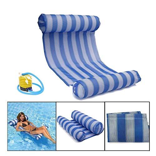 Zwembad Float, Opblaasbare Zwembad Hangmat Drijvend Bed Recliner Strand Zadel Drifting Volwassen Draagbare lucht Kussen, 1 lucht Pomp Leuke