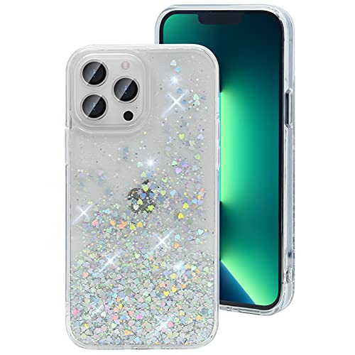 Gospire Glitter Case Design for iPhone 13 Pro Max 6.7 Inch Shockproof Hard PC with Soft TPU Edge, Anti-Scratch iPhone 13 Pro Max Sparkle...