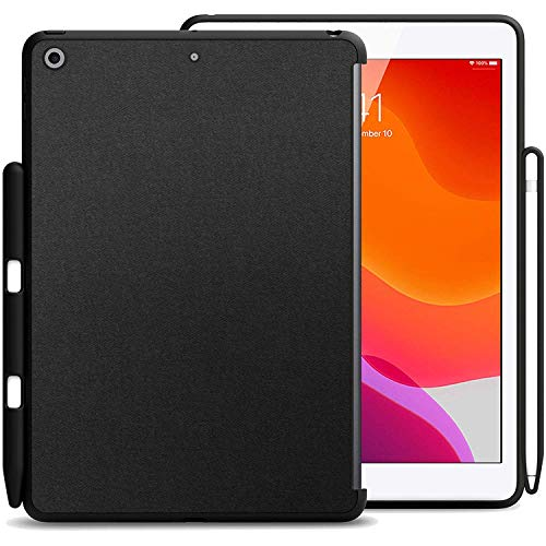 KHOMO iPad 10.2 2019 & 2020 Hülle mit Stifthalterung (7. und 8. Generation) – Companion Back Cover Serie – ideal passend für Apple Smart Keyboard & Frontabdeckung
