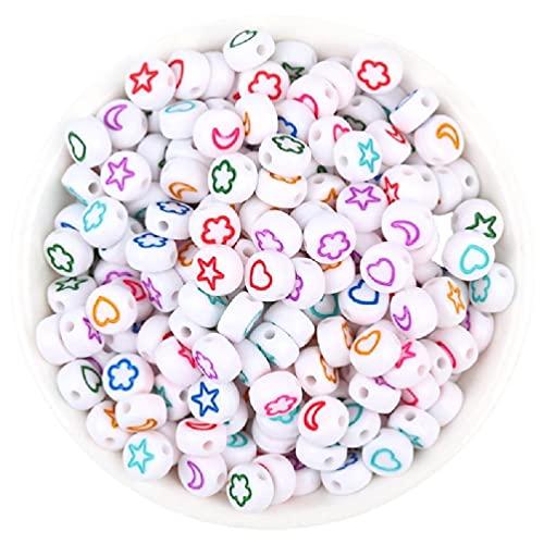100 piezas/paquete de cuentas de alfabeto oblato pequeño materiales para hacer joyas pequeñas cuentas redondas planas de acrílico pequeñas suministros de bricolaje pulsera de la amistad cuentas