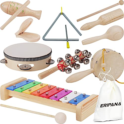 Musical Toys Set for Boys and Girls Age 1-3 Natural