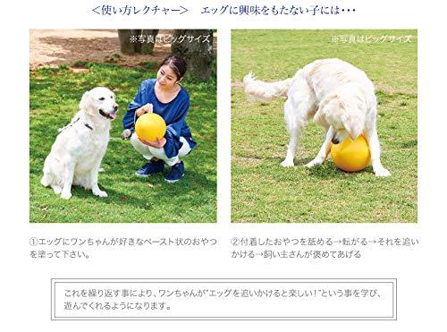 オーエフティーエッグミニイエロー壊れにくい卵型おもちゃボールサイズ(約):直径12.5×高19.5cm重量(約):200g犬