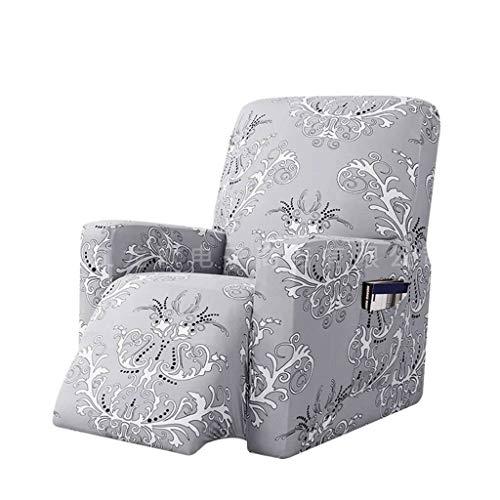 Sesselbezug Stretch Bedruckte Stuhlhussen Dauerhaft Sesselschoner Mit Seitentasche Waschbar Sanft Stretchhusse Waschbar Möbelschutz-grau