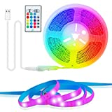TV Led Backlight, 6.56 Ft LED Strip Lights, Music Sync Led Tape Light with Remote Control, Color Changing RGB LED Lights for TV, Game Room, Mirror, PC