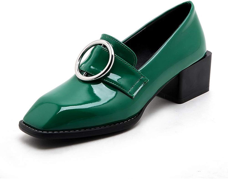 AdeeSu Womens Toggle Charms Casual Urethane Pumps shoes SDC05832