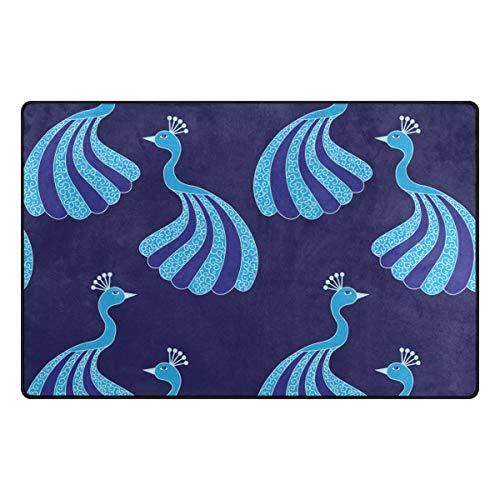 Emoya Teppich Fee Magische Pfauen Esszimmer Teppich Schlafzimmer Fußmatte 50 cm x 78 cm, Textil, Multi, 99x152cm (3' x 5'feet)