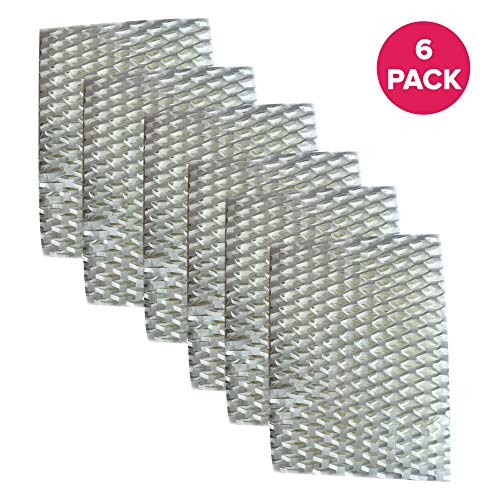 Crucial Air Filter Replacement Parts Compatible With ReliOn Part # WF813 - Fits ReliOn WF813 2-Pack Humidifier Wicking Filters, Fits ReliOn RCM832 (RCM-832) RCM-832N, DH-832 and DH-830 Vac (6 Pack)