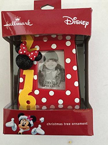 Minnie Mouse Disney Photo Frame 2016 Christmas Ornament by Hallmark
