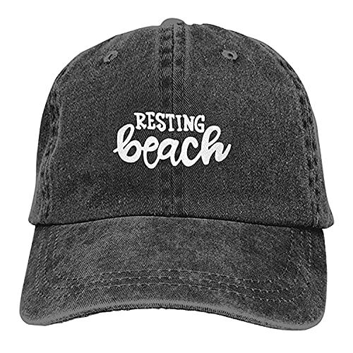 N \ A Gorra de casqueta suave unisex con diseño de gafas de sol y cara, estilo retro, ajustable, estilo retro, color negro