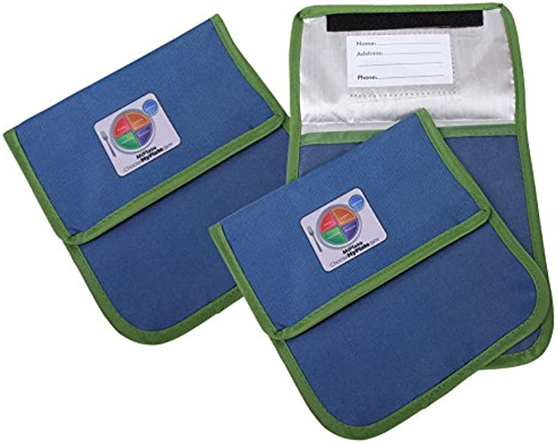 Fresh Baby 3 Piece Myplate Reusable Sandwich Bag Blue Green