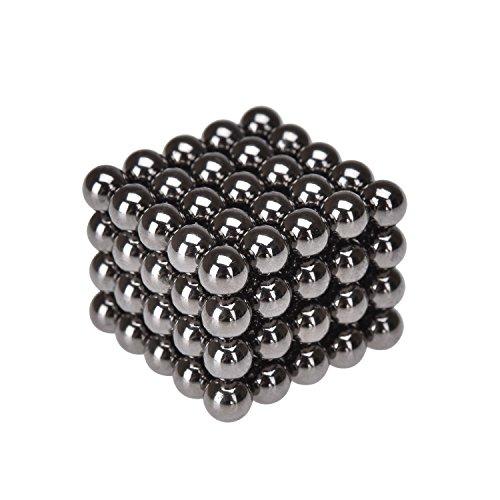 eLander Neodym-Super-Magnete Magnetkugeln, Sehr starke Magnete für Glas-Magnetboards, Magnettafel, Whiteboard, Tafel, Pinnwand, Kühlschrank, und vieles mehr- 5mm (100 Stücke), Anthracite
