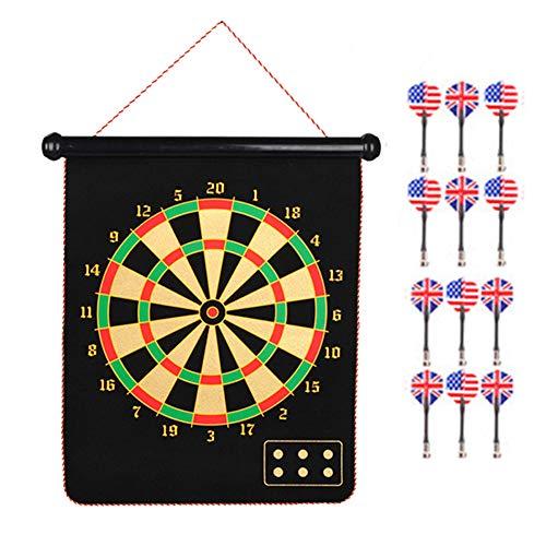 Magnetische dartpijlenset, magnetisch dartbord met dubbele sluiting, comfortabel te dragen, veilig en praktisch, set voor oefeningen en vrije tijd, 12-delig