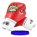 Letsgozzc Guantes Boxeo Mujer, Juguetes Niños 4-12 Años, Guantes de Boxeo para Niños Regalos Cumpleaños Niño 4-12 Años Regalo Niña 4-12 Años Interesante Regalos - Rojo