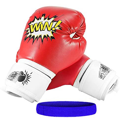 Letsgozzc Spielzeug Jungen 4 5 6 7 8 9 10 11 12 Jahre, Boxhandschuhe Kickboxen Kinder ab 5-12 Jahre Geschenke für Mädchen 3-12 Jahre Spielzeug für Mädchen 5-12 Jahre
