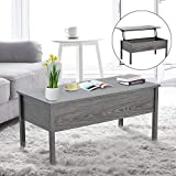Tidyard Modern Lift Top Coffee Table with Hidden Storage Compartment Lift Tabletop Sofa and Couch End Side Table Computer Desk Living Room Home Office Furniture