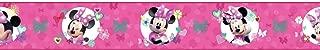 York Wallcoverings Kids III Disney Minnie Mouse Border, Pinks