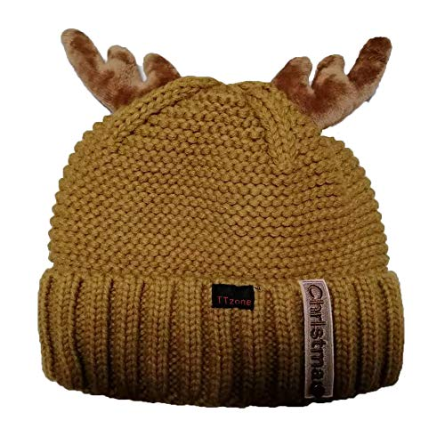 TTzone Winter Hat for Women Thick Knit Skull Cap Fleece Lined Cuff Beanie Brown