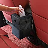 Winzwon Auto Mülleimer, IP68 Wasserdicht Abfalltasche, Faltbar Abfalltasche Auto Tasche mit Deckel,...