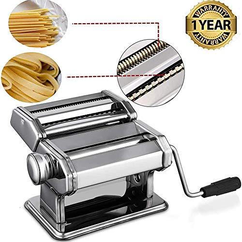 Pasta Maker Machine, Hand Crank Noodle Maker RVS Noodles Cutter Met Klem Voor Spaghetti Lasagna Tagliatelle