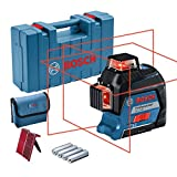 Bosch Professional Line Laser Level GLL 3-80 (red laser, range: up to 30 m, 4 x AA batteries, in carrying case)
