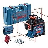 Bosch Professional Niveau Laser Lignes GLL 3-80 (laser rouge, portée : jusqu'à 30 m, 4 piles AA, dans coffret de transport)