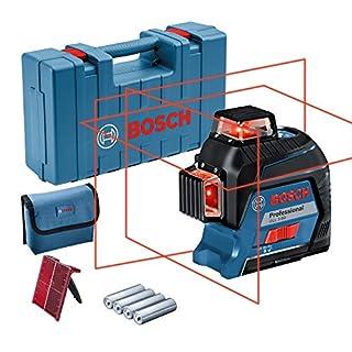 Bosch Professional GLL 3-80 Livella Laser Rosso, Raggio d'Azione Fino a 30 m, 4 Pile AA, Valigetta, Blu (B0768PD5DR)   Amazon price tracker / tracking, Amazon price history charts, Amazon price watches, Amazon price drop alerts