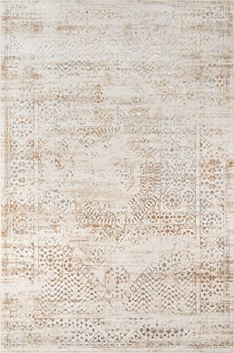 momeni Teppiche julieju-02bge2030Julia Collection übergangsgebiet Teppich, Polypropylen, beige, 3'3