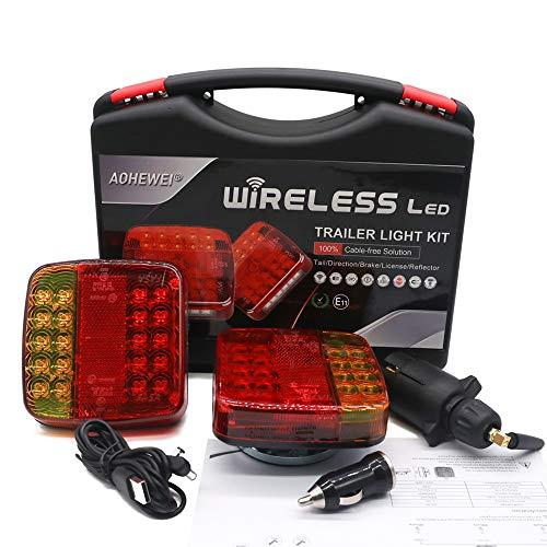 AOHEWEI Juego Luces LED de Iluminación Inalámbrica Luces Traseras Magnéticas para Remolque sin Cables 12 V Parte Trasera de camión Aprobado por ECE EMC