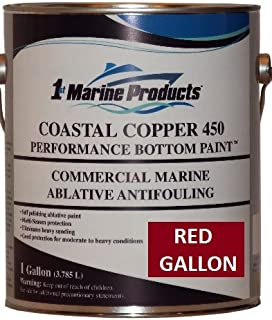 RED GALLON Coastal Copper 450 Ablative Antifouling Bottom Paint RED GALLON