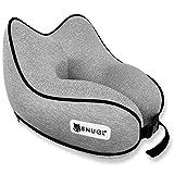 SNUGL Travel Pillow - Premium Ergonomic Design Memory Foam Cushion - Head, Neck