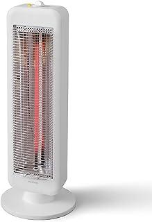 アイリスオーヤマ 電気ストーブ 速暖 縦型 首振り70度 転倒時電源OFF 400W/800W 2段階切替 ブラックコートヒーター ホワイト IESB-S800