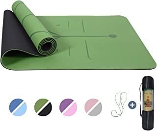 Yoga Mat Non Slip, Pilates Fitness Mats with Alignment...