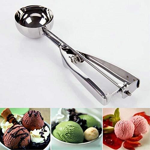 Casecover Ice Cream en Acier Inoxydable Scoop pour Boulettes De Viande Melon P/âte /À Biscuits Muffin Pur/ée Gadget