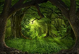 YongFoto 2,2x1,5m Vinilo Fondo de Fotografia Selvas Tropicales Profundas Naturaleza Paisaje del Bosque Telón de Fondo Photo Booth Infantil Party Banner Niños Photo Studio Props