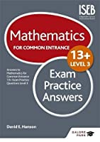 Mathematics Level 3 for Common Entrance at 13+ Exam Practice Answers