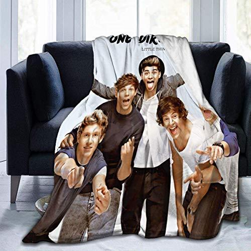 KNJF One Direction - Manta suave para sofá y cama (152,4 x 127 cm)