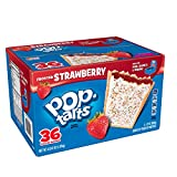 Pop-Tarts Breakfast Toaster Pastries, Frosted Strawberry Flavored, 66 oz (36Count)