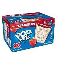 ポップターツ トースターのペストリー、つや消しイチゴ、36 カウント ボックス Pop-Tarts Toaster Pastries, Frosted Strawberry, 36-Count Box