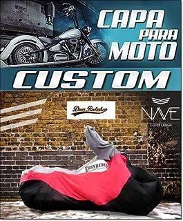 Capa para moto Custom cor vermelho