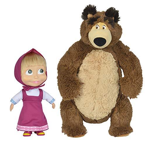Simba 109301016WEB - Masha e Orso Masha 23 cm + Peluche Michka 43 cm