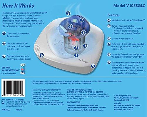 Vicks Nursery 1 Gallon Vaporizer with Night-Light Warm Steam Vaporizer for Baby Room