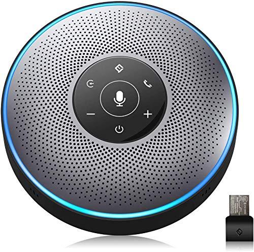 スピーカーフォン eMeet マイクスピーカー web会議用 最大8人まで対応 双方向会話 ワイヤレススピーカーフォン Bluetooth/USB/AUX対応 360˚全方向集音 エコー・ノイズのキャンセリング 高音質 位置検出機能 LED指示 ・多人数遠隔会議用・セミナー・家族会話用 Skype/zoom/Facetime/Wechat通話アプリ対応 OfficeCore M2 グレー