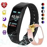 Fitness Tracker,Color Screen Activity Tracker Watch Blood Pressure Blood Oxygen, IP67 Waterproof Smart